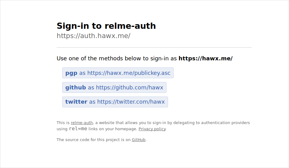 authenticating with auth.hawx.me